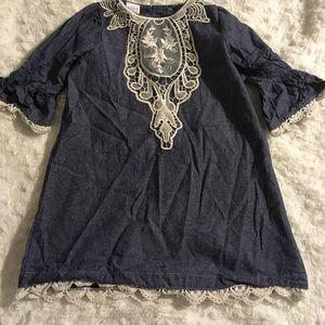 Other - Jean Dress with Lace Accents
